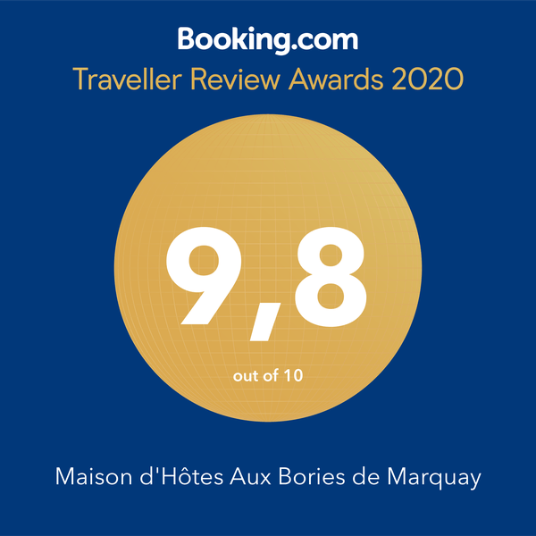 Award Booking Maison d'hôtes 2020