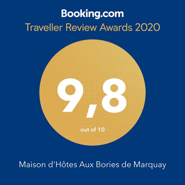 Trophée Booking 2020 pour notre maison d'hôtes de charme à en Dordogne